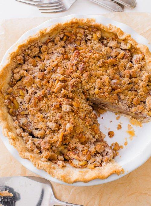Tarta de manzana con crumble